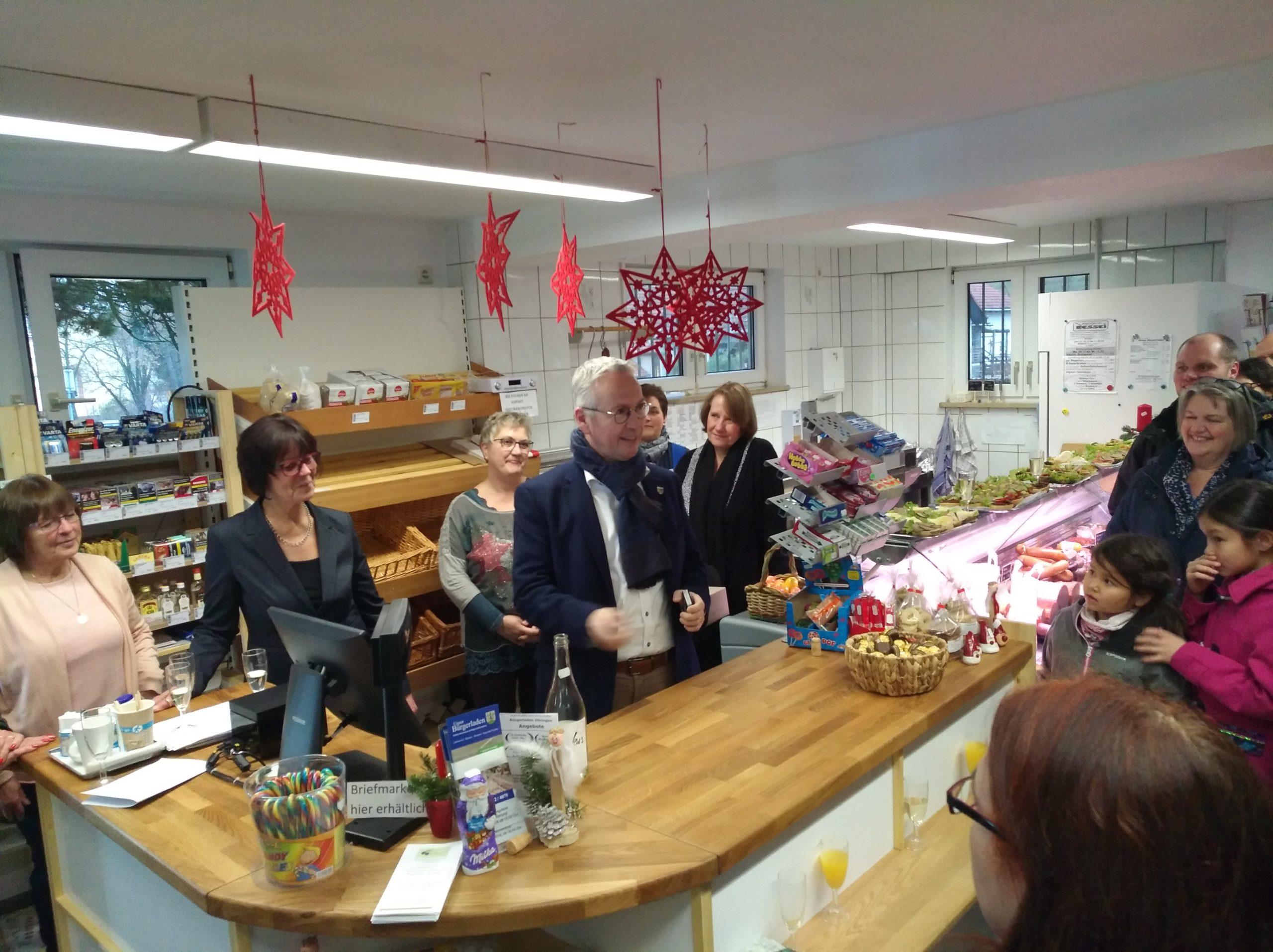 Eröffnung der Bürgerladens in Höringen