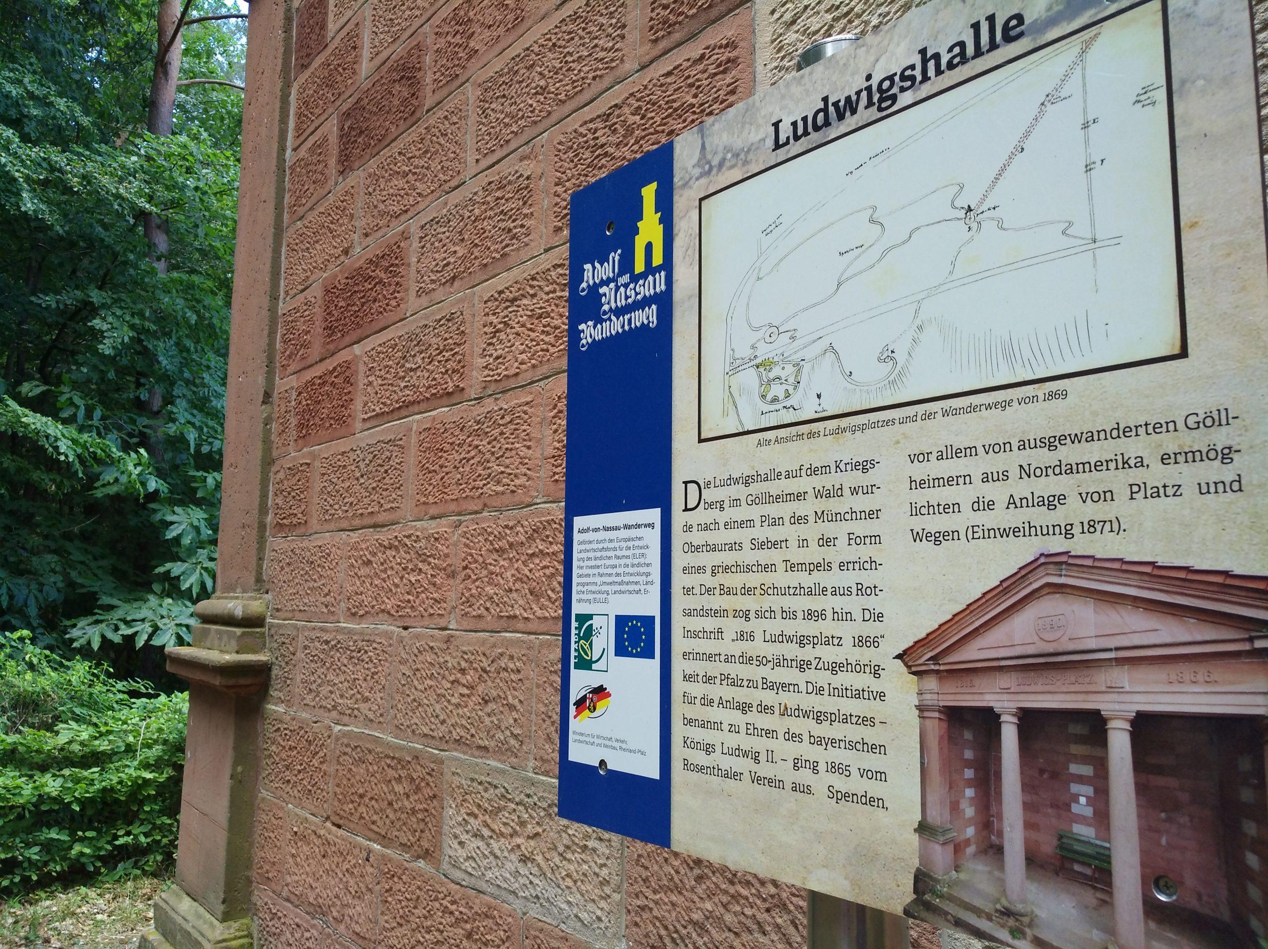 """Premiumwanderweg """"Adolf von Nassau Wanderweg"""" in der VG Göllheim"""