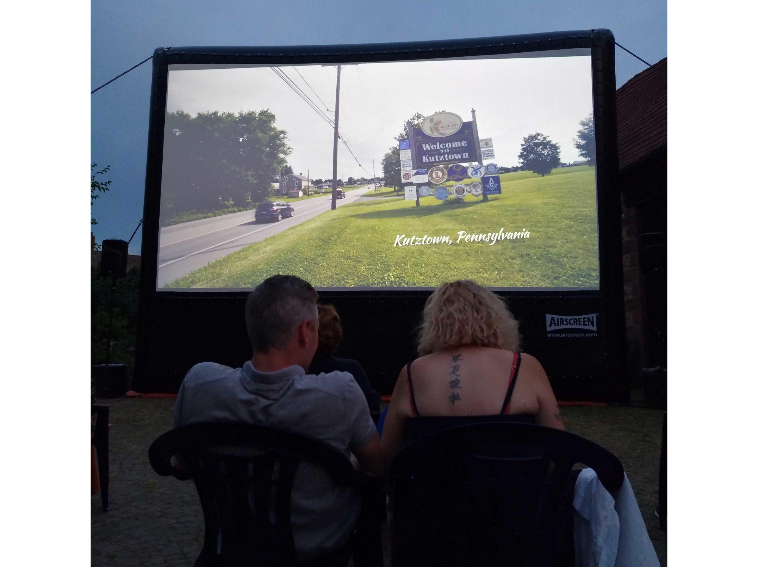 Ausstattung für das Open Air Kino des Provinzkinos Enkenbach